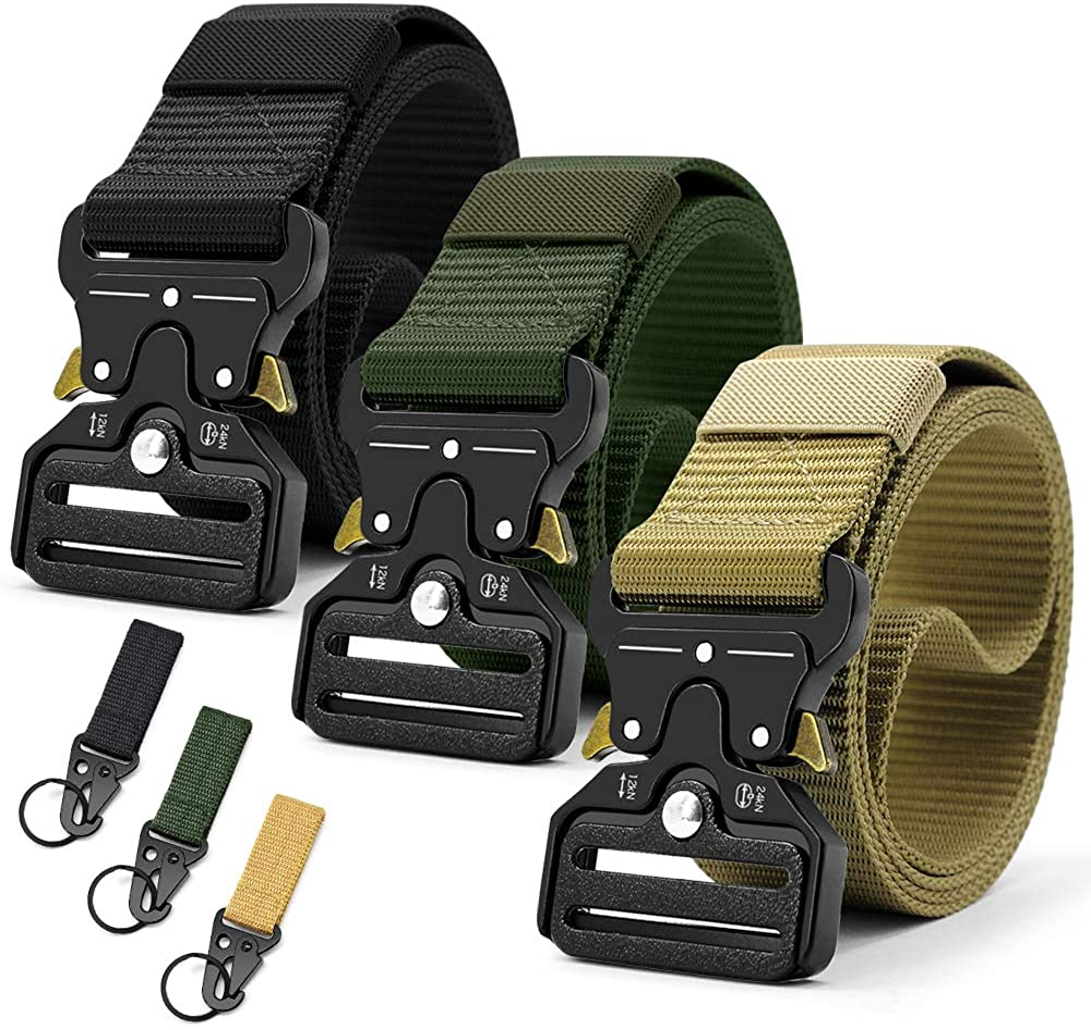 Doopai Tactical Belt,Military Style Quick Release Metal Buckle Belt,1.5
