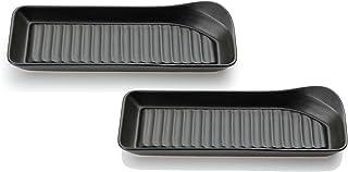 カネセ 長皿 ブラック 奥10×幅28×高4㎝ 耐熱グリルプレート 2枚入 2枚入 2個セット 20116163