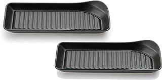 カネセ 中皿 ブラック 10×28×4cm 美濃焼 耐熱姿焼グリルプレート(2枚組) 2枚入