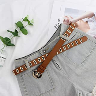 XHNMAO Fashion Belt Female Decorative Dress Simple Wild Sweater Belt Student Casual Jeans Belt Accessories (Color : Orange)
