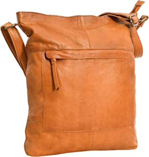 Gusti Shoulder Bag Leather - Maola Genuine Leather Handbag Crossbody Tote Bag Shopper with Top Zipper for Women