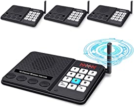 Intercoms Wireless for Home - GLCON Long Range 1 Mile Wireless Intercom System 10 Channel 3 Code - Room to Room Home Inter...