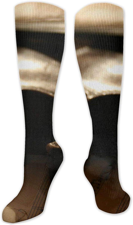 Violin Knee High Socks Leg Warmer Dresses Long Boot Stockings For Womens Cosplay Daily Wear
