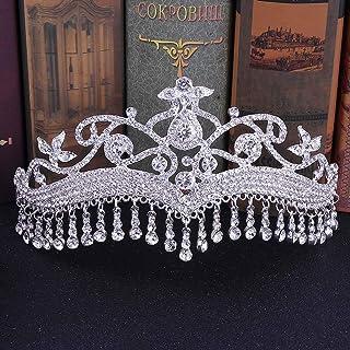Dongyu Accessori for Gioielli da Sposa con Copricapo da Sposa con Corona, Strass E Copricapo da Corona
