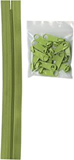 ByAnnie Zippers by Yard, Apple Green