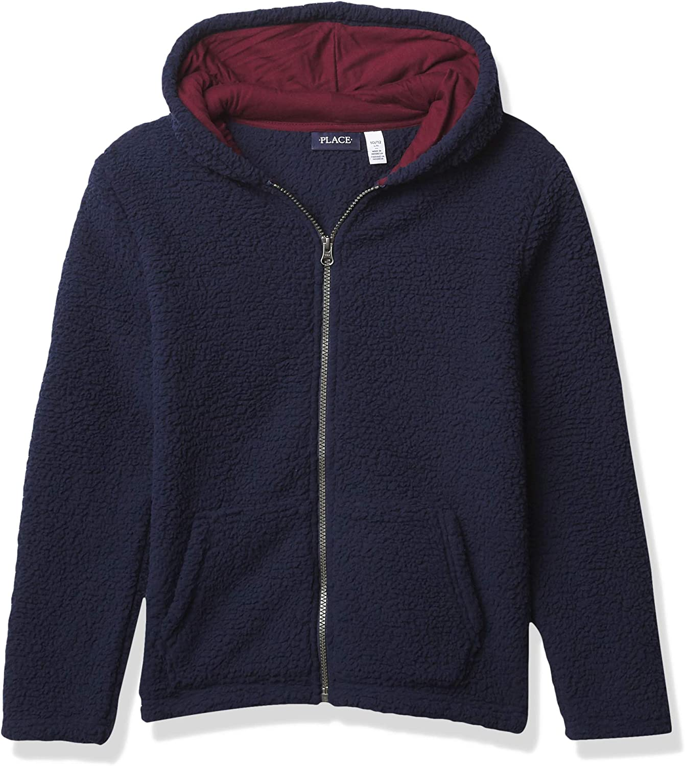 The Children's Place Boys' Sherpa Cozy Zip Up Hoodie