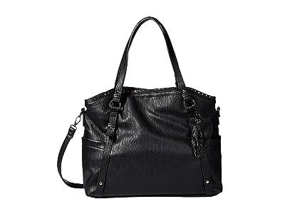 Jessica Simpson Misha East/West Crossbody Tote (Black) Tote Handbags