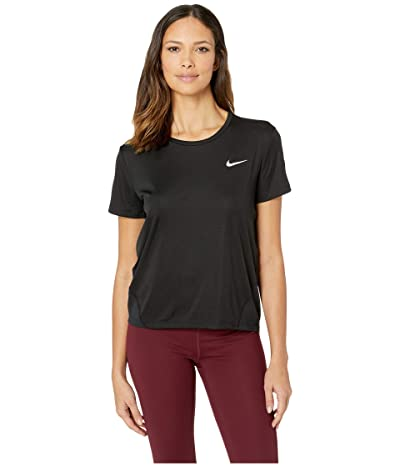 Nike Miler Top Short Sleeve (Black/Reflective Silver) Women