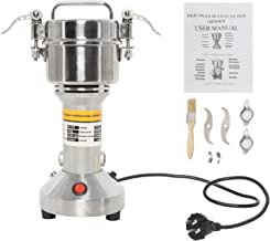 YaeMarine 110V 150g High Speed Electric Grain Mill Grinder 850W 50-300 Mesh 28000RPM Stainless Steel Electric Spice Herb Cereals Coffee Rice Corn Sesame Soybean Flour Powder Machine Commercial Home Clinic Pharmacy (Capacity, 150g)