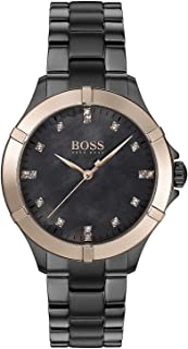 Hugo Boss Womens Grey Quartz Watch, Analog Display and Stainless Steel Strap 1502470