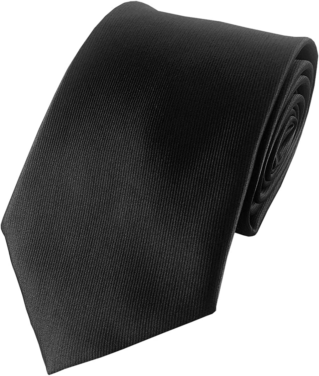 Men's Ties Solid Color Pure Necktie F Plain Many popular Max 54% OFF brands Black Polyester