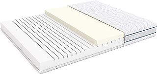 Alkove - Colchón de espuma viscoelástica con 7 zonas y funda extraíble Sanitized®, 90 x 190 x 23 cm