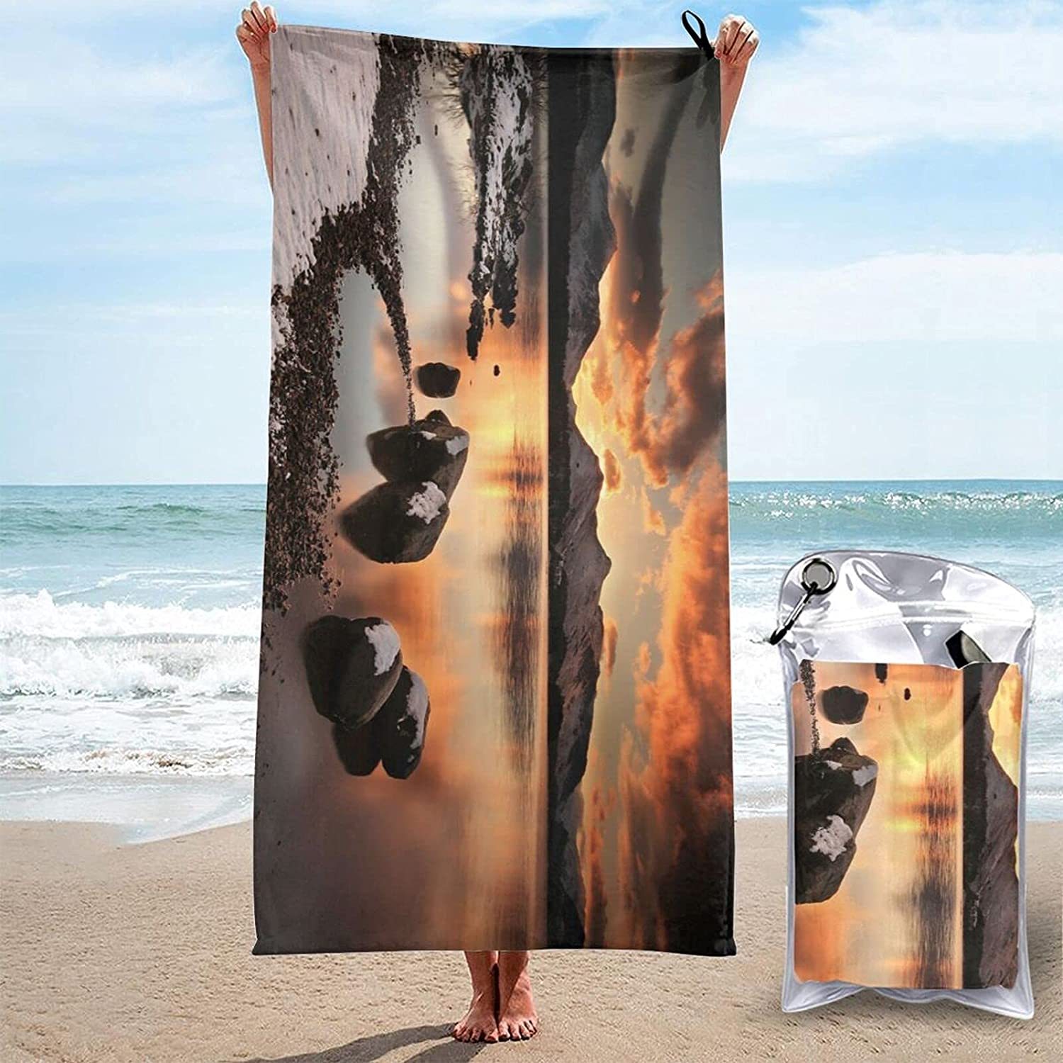 Beauty products Colorful Eagle Print Quick Absorbent Dry Factory outlet Towel Super