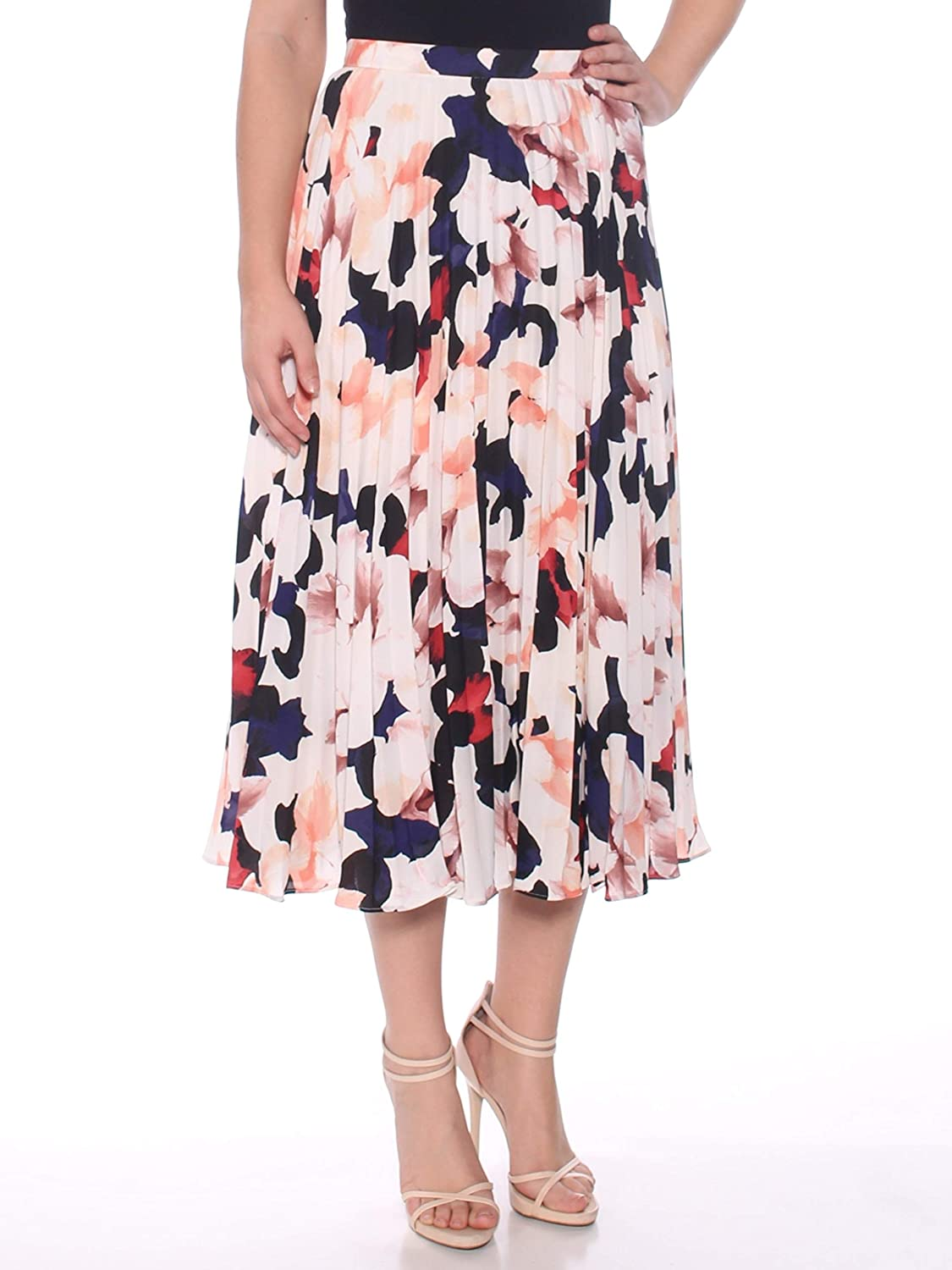 1.State Womens Printed Pleated Skirt