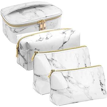 DIMJ Trousse de Maquillage Portable Noir Trousse de Toilette Femmes Voyage Imperm/éable Sac de Maquillage de Voyage avec Sac de C/âble USB
