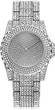 Luxury Full Diamond Women Watch Rhinestone Stainless Steel Band Bracelet Wristwatch for Ladies