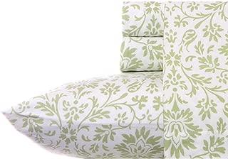Laura Ashley Flannel Sheet Set, Jayden Sage, Queen