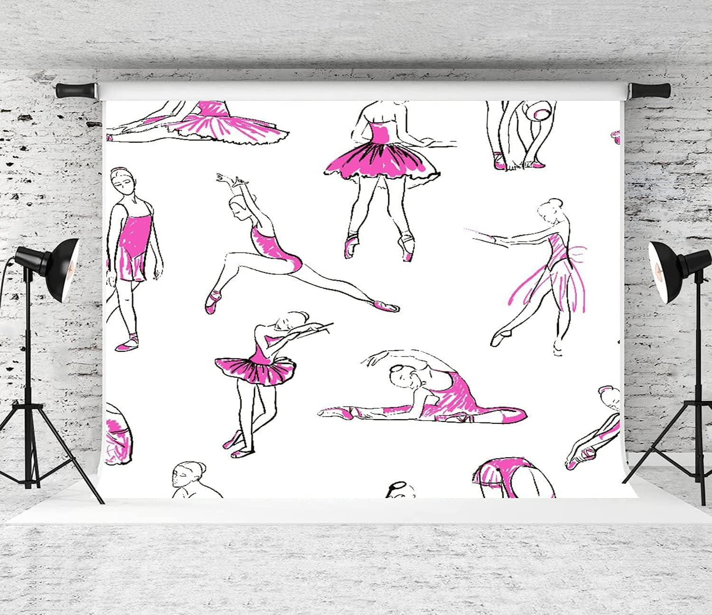 MATEKULI Portable Backdrop Photography Ballet Girls of Ba 4 years warranty Opening large release sale Sketch