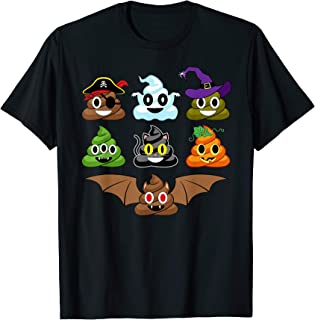Poop Emoji's Halloween Costumes Funny T-Shirt