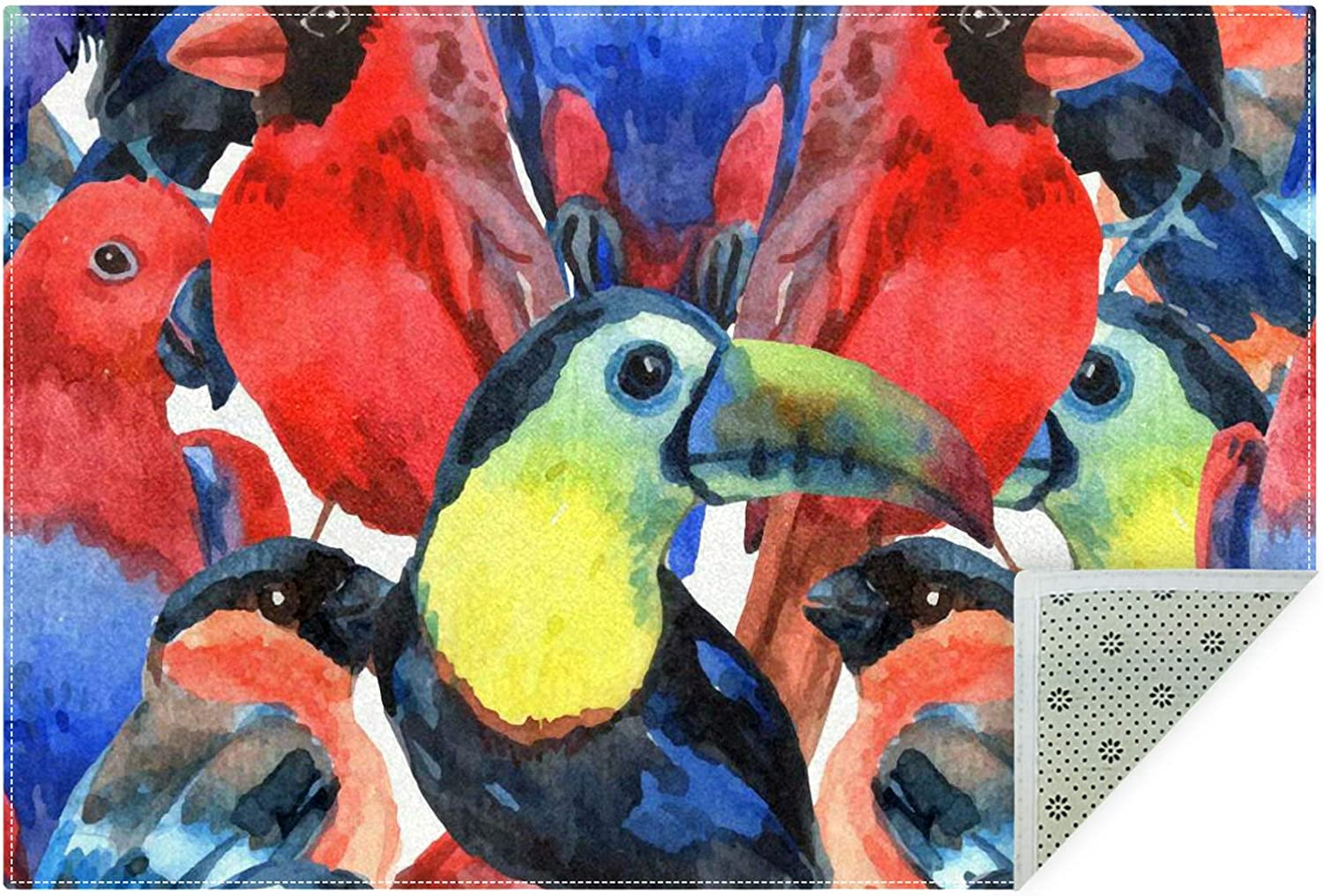 depot Unicey No-Shedding Non-Slip Machine Colo Tropical Washable Birds In a popularity