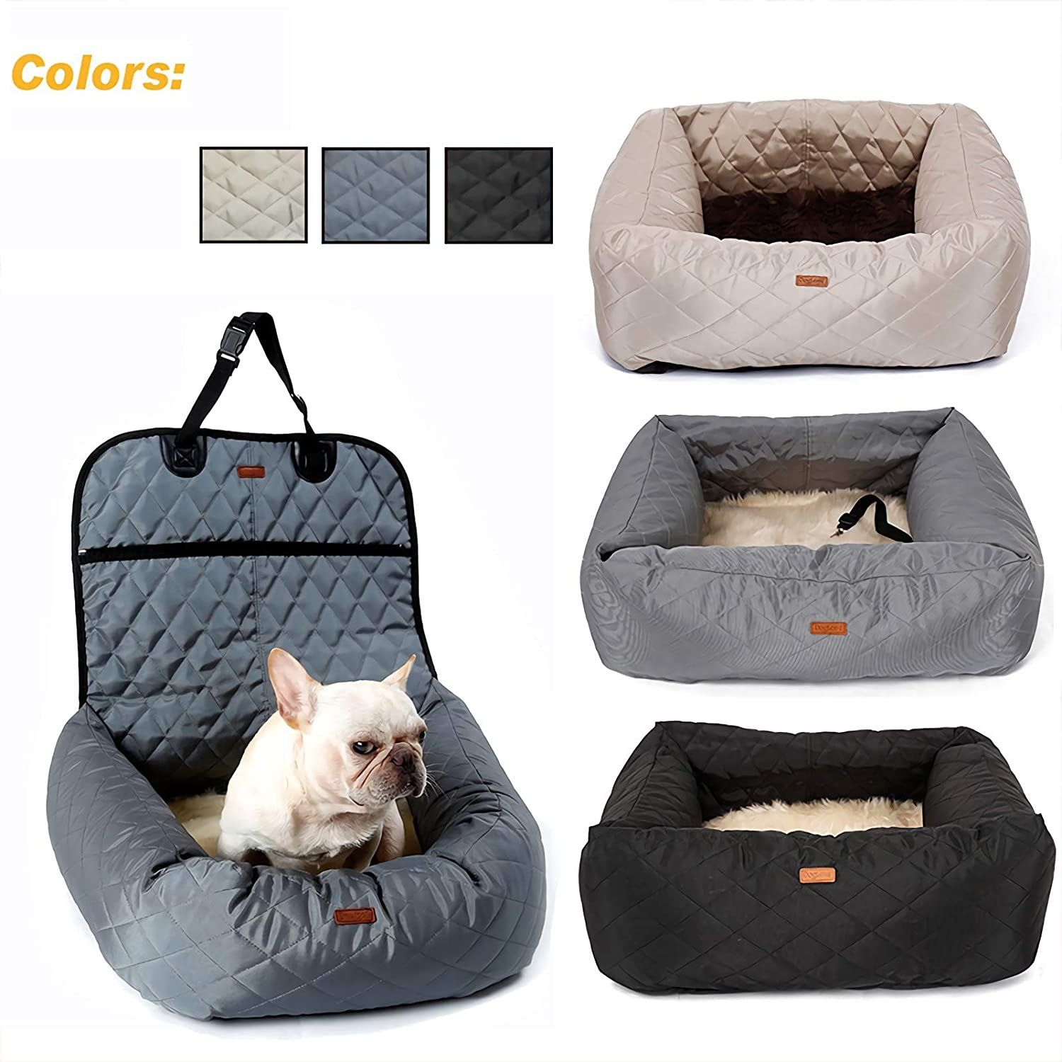 Pet Car Booster Seat Pet Dog Car Supplies Waterproof Pet Car Seat Cover Pet Car Carriers Travelling Seat Predector Thicken pet pad Removable and Washable Warm pet nest