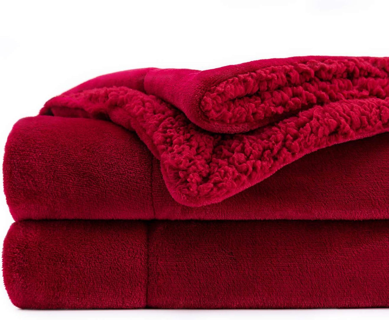Topblan Sherpa Los Angeles Sales Mall Fleece Throw Blanket Reversible Ultra Soft Plush