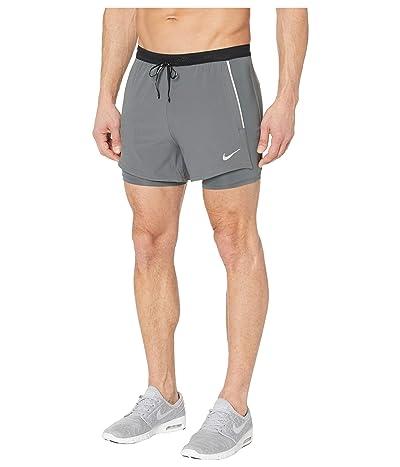 Nike Flex Swift Shorts 2-in-1 Hybrid (Iron Grey/Iron Grey/Reflective Silver) Men
