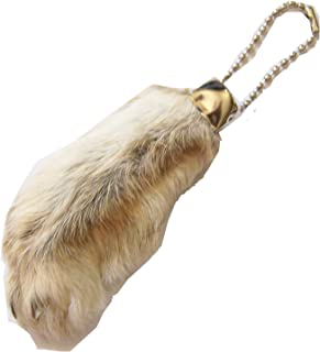 All Natural Lucky Rabbit Foot Keychain