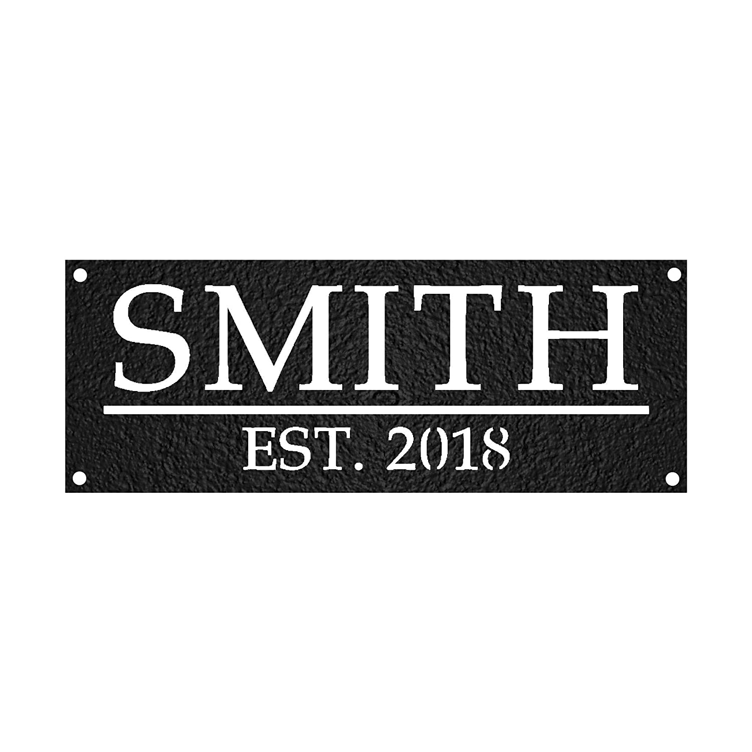 Custom Metal Family Name Business San Diego Mall S Sign Mail order cheap Rectangular
