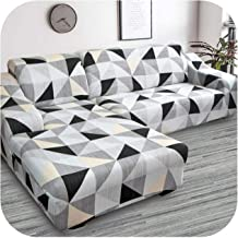 Corner Sofa Covers for Living Room Slipcovers Elastic Stretch Sectional Sofa Cubre Sofa,L Shape Need to Buy 2 Pieces-Color...