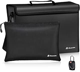 Powerextra Fireproof Document Bags (17 x 12 x 5.8 inch) and Small Fireproof Bag (13.4 x 9.4 inch) Waterproof Fire Safe Bag...