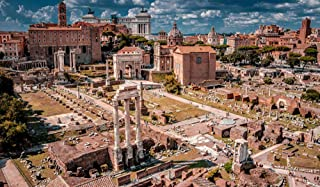 Adult Puzzles 1000 Pieces - Italy Rome Ruins Famous Buildings Houses Palatine Jigsaw Puzzle for Adults, Families and Kids....