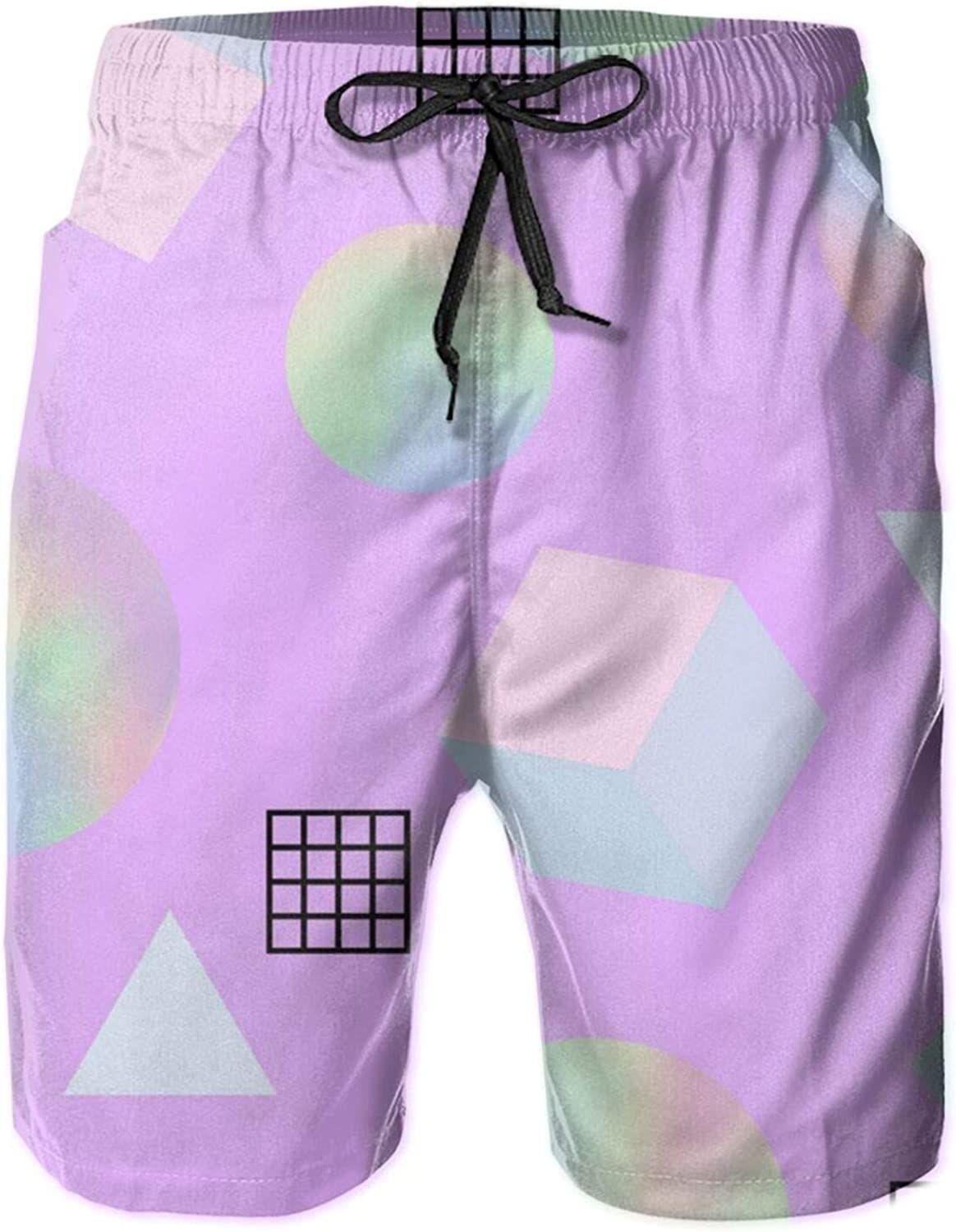 Cey99P-A Max 47% Lowest price challenge OFF Mens Beautiful Background Quick Dry Swim Trunks Short
