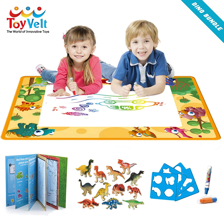 Toyvelt Dinosaur Aqua Magic Water Doodle Mat Toy Educational