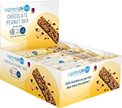 LighterLife Fast Chocolate Peanut Bar Weight Loss Meal Replacement Bar High in Protein with 25 of RDA Vitamins and Minerals 56g Box of 12