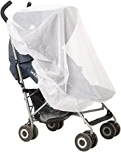 Strollers Net For Indoor & Outdoor Use, Insect Safety Netting, Mosquito, Bee, Bug Net, Fits Most Strollers and Bassinets, Breathable and Comfortable for baby, Elastic For Secure Fit, Color White