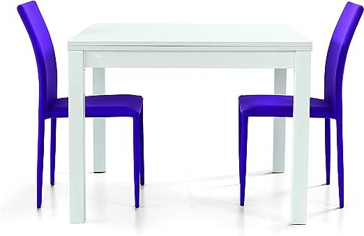 Fashion Commerce Fc559 Tavolo Allungabile Legno Bianco 90 X 90 X 76 Cm Amazon It Casa E Cucina