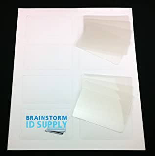8 Teslin ID Card Kit - Inkjet Teslin & Butterfly Pouches - Makes 8 Credit-Card Size PVC Like ID Cards