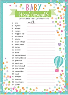 Amscan Baby Shower Word Games - 3 Years & Above