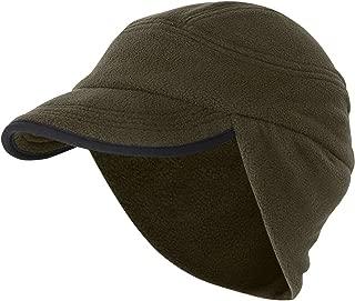 Winter Warm Skull Cap Outdoor Windproof Fleece Earflap Hat with Visor