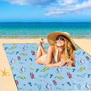 "Yuecoofei (7"" Wide x 12"" Long) Outdoor Picnic Blanket,Beach Mat,Large Picnic Blanket for Family, Foldable Waterproof Picni..."