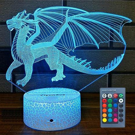 Dragon Power Up Led Light Lamp Action Figure Home Room Decor