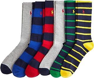 Polo Ralph Lauren Men's Classic Sport Striped Crew Socks 6-Pack Size 10-13