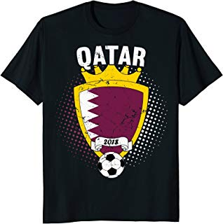 Qatar Soccer T-Shirt 2018 Qatari Flag National Team Cup