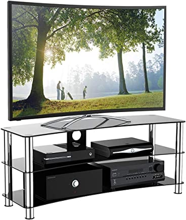 395487ecc 1home Soporte Vidrio Templado Negro de TV para 32-70 Pulgadas 120 cm de  Ancho