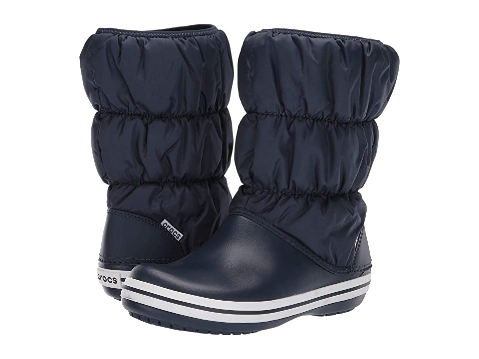 Crocs Winter Puff Boot (Navy/White) Women