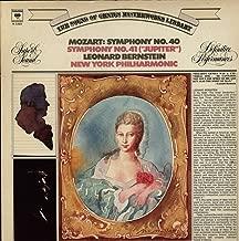 Mozart: Symphony No 40 / Symphony No. 41 Jupiter- Bernstein, New York Philharmonic