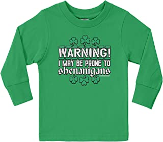 Threadrock Little Boys' May Be Prone to Shenanigans Toddler Long Sleeve T-Shirt