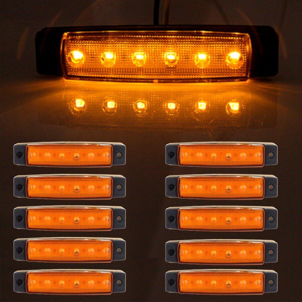 "cciyu Side specialty shop Marker Light Indicator Ambe Los Angeles Mall 8"" 3 Universal"