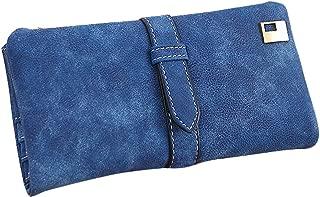 Wiwsi Ladies Drawstring Nubuck Zip Bi-Fold Long Purse Wallet Card Zip Handbags